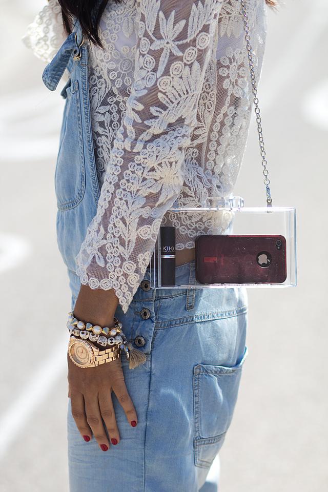 Dungaree-Denim- Peto vaquero- lace blouse- blusa encaje- Zaragoza Moda- Sissy a la mode 6